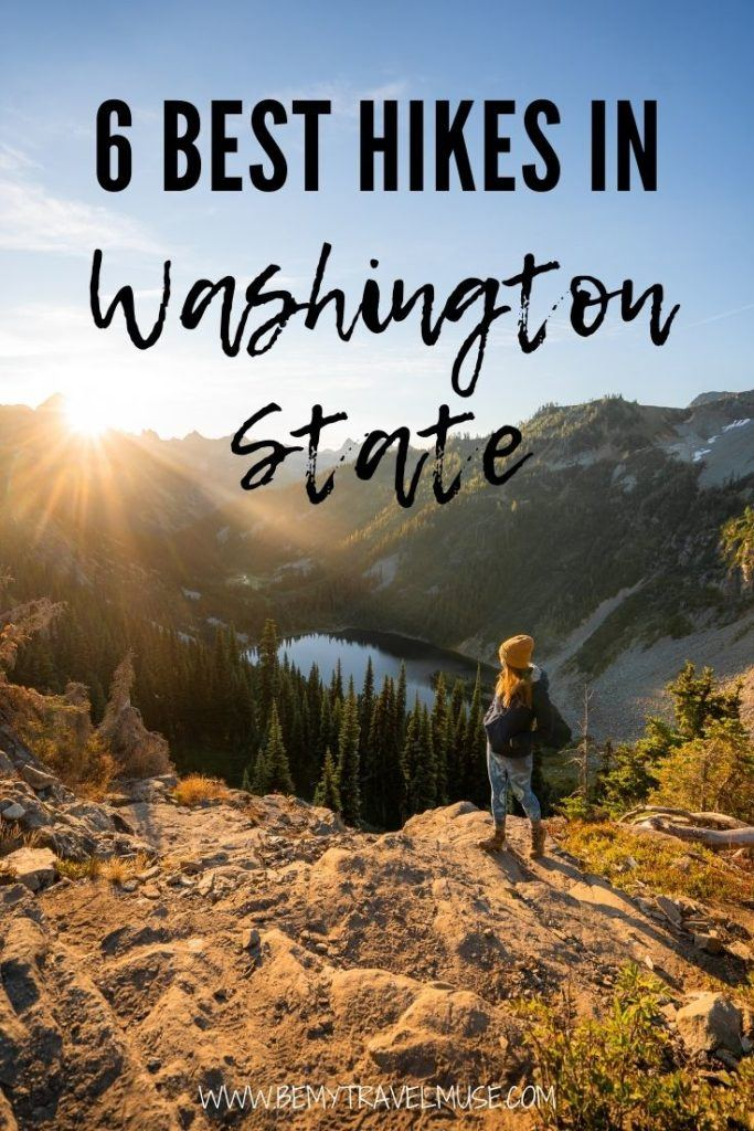 6 unmissable hikes in Washington state! Use this guide to plan your hiking trip to Washington. Insider tips, distance, and difficulties of each hike is included. #Washington