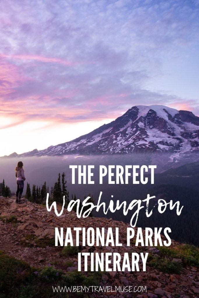 The perfect Washington national parks itinerary, with a complete, insider guide to Mount Rainier National Park, Olympic National Park, and North Cascades National Park, with the best things to do in each area, and tips on accommodation! #Washington