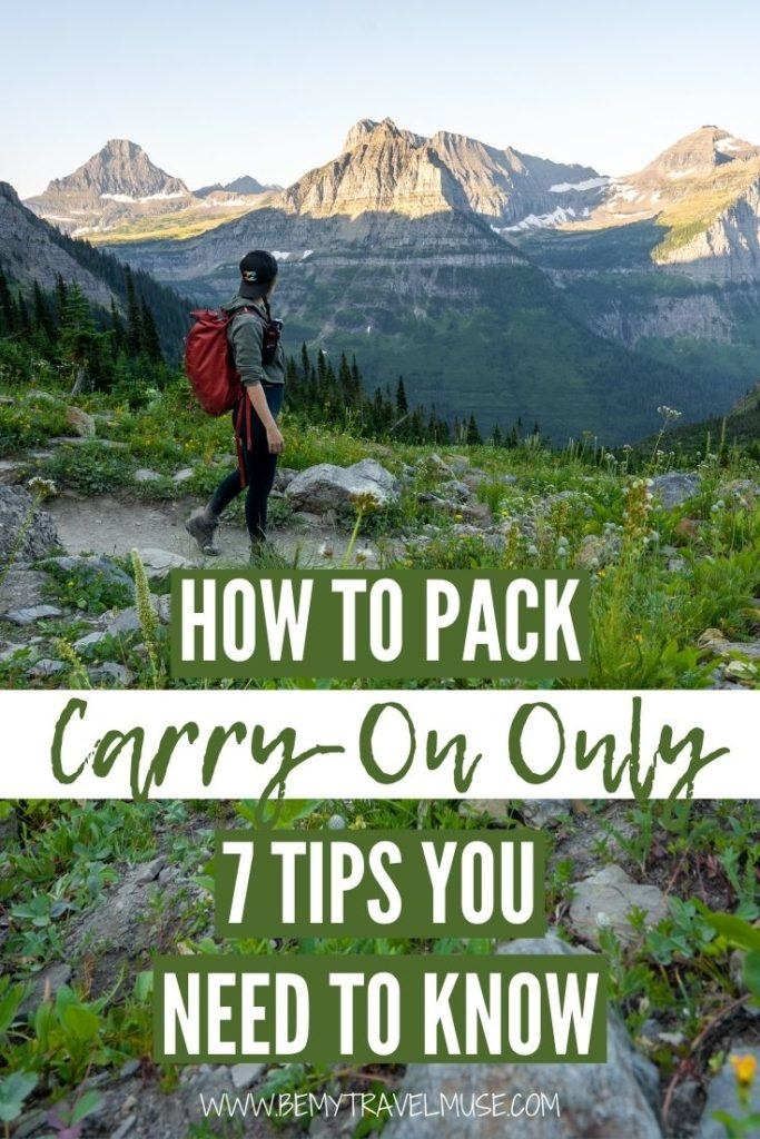 7 tips to help you pack carry-on only, from an expert traveler who has traveled mostly with carry-on only for 8+ years! Learn how to pack light for your travels, without compromising on style!
