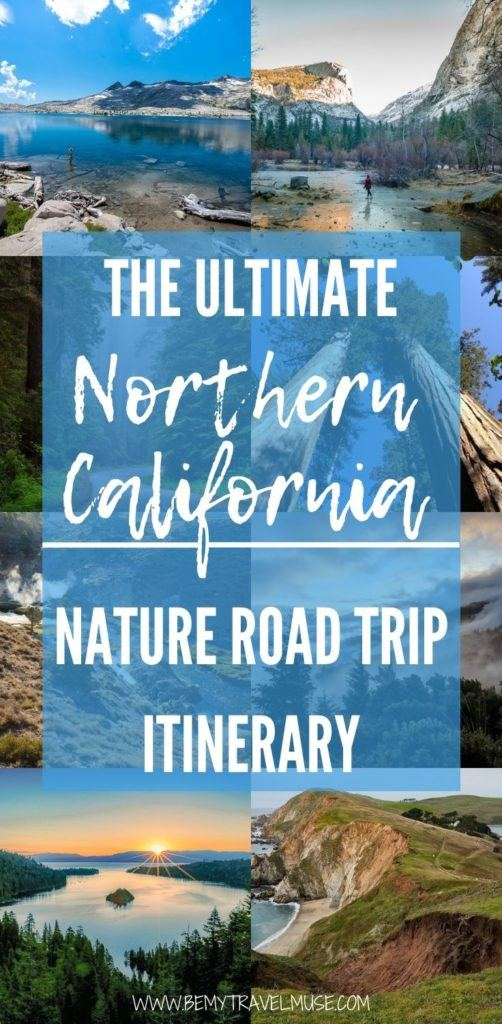 Click for a Northern California road trip itinerary, with 10 amazing stops that focus on nature. Explore Redwood National and State Parks, Lake Almanor, Lake Tahoe, Desolation Wilderness, Yosemite National Park and more. Get insider tips, information on the best things to do and lodging at each stop! #ad @Enterprise
