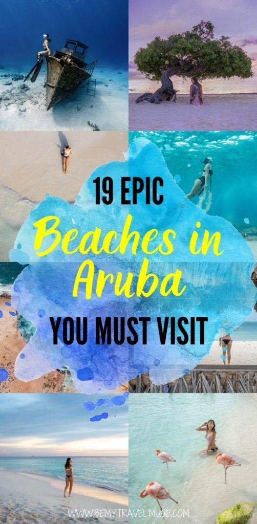 19 epic, unmissable beaches in Aruba you must visit when in this gorgeous South American country! Aside from the popular Flamingo beach, there are 18 other beaches that offer beautiful white sand, seclusion as well as a bunch of activities available. Click to see the list now! #Aruba