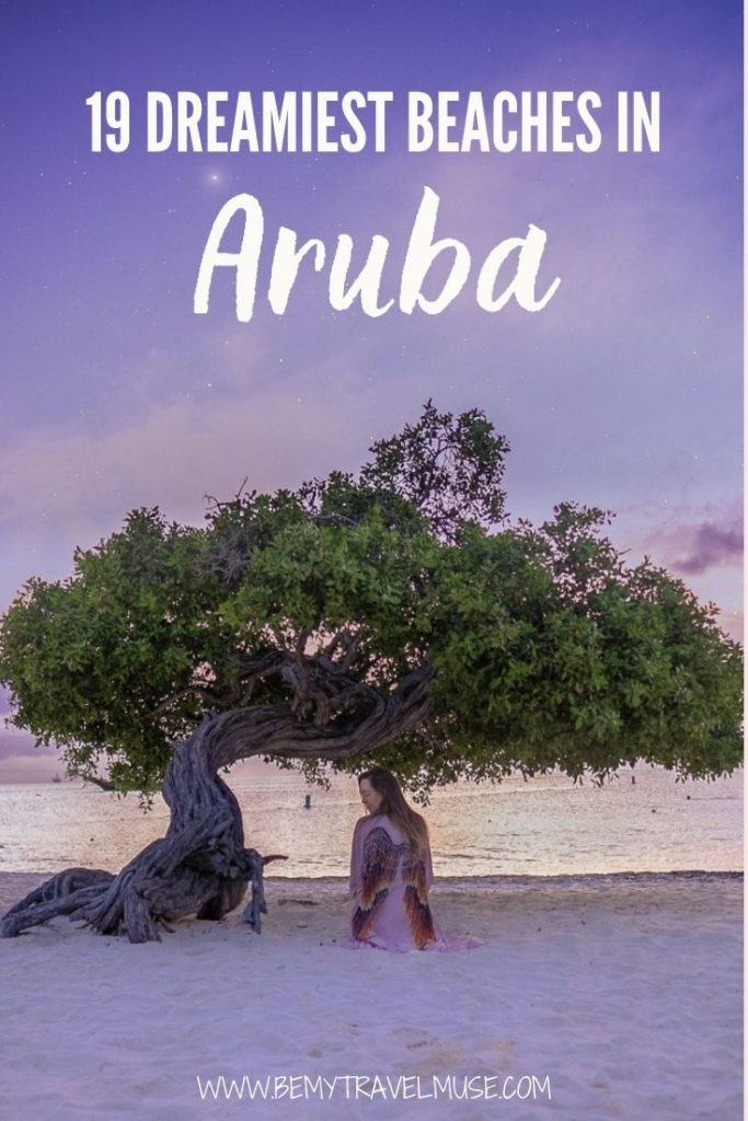 Planning a trip to Aruba? Here's a complete list of the best beaches in Aruba you must visit, tailored based on your preferred holiday style! Be it white sand beaches, secluded beaches that are off the beaten path, or beaches with fun activities, this list got you covered! #Aruba