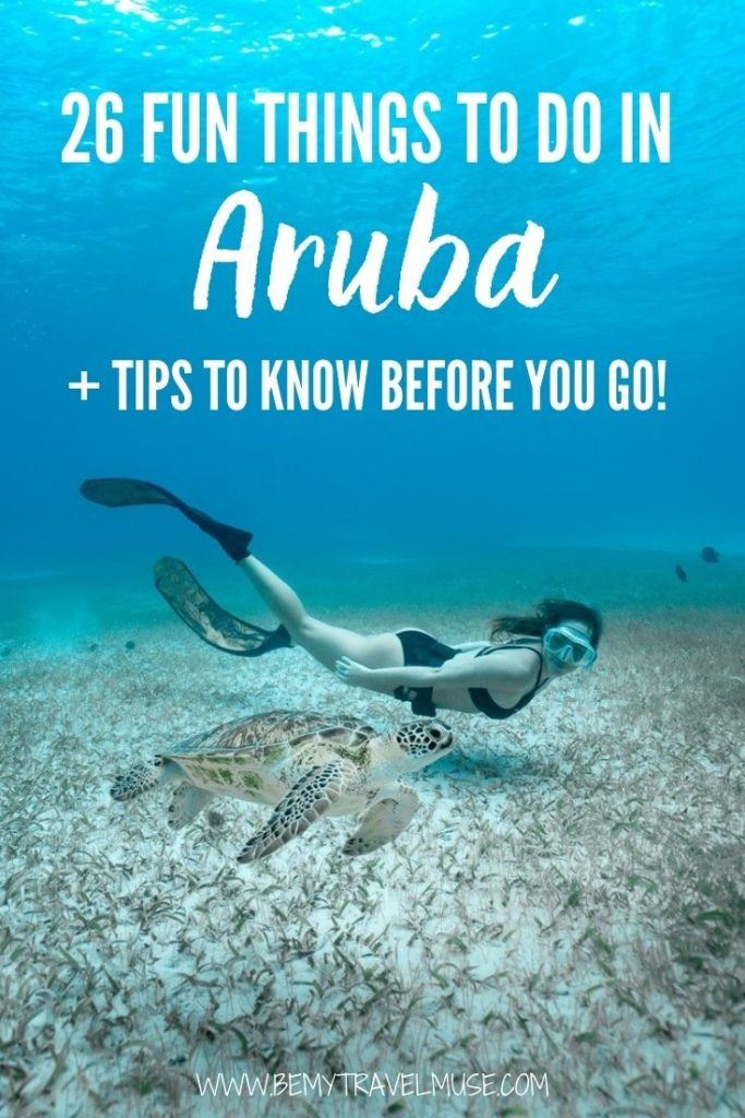 Visiting Aruba soon? Here are 26 fun things to do in Aruba, plus insider tips you must know before you go. See where the best beaches, unique spots like caves, natural pool, bridges, restaurants, and snorkeling/scuba diving spots are. If you are planning an Aruba itinerary, this list will help you figure out the best things to do in the country. #Aruba