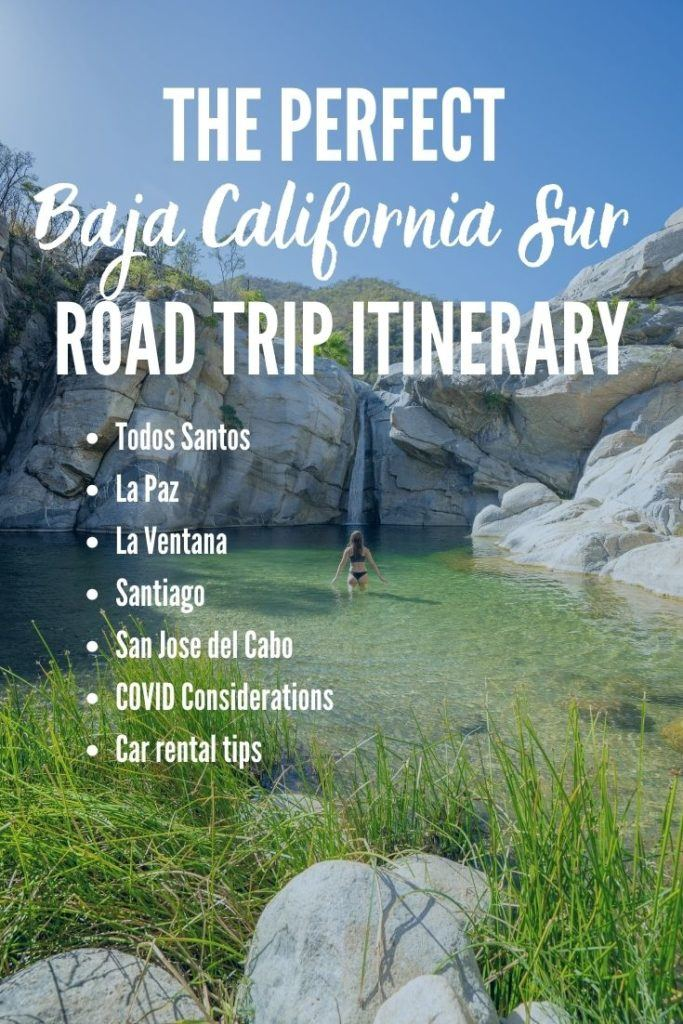 The perfect Baja California Sur, Mexico road trip itinerary! Stops include Todos Santos, La Paz, La Ventana, Santiago, San Jose del Cabo and some honorable mentions to help you plan an amazing road trip. Get tips on the best things to do, accommodation and car rental recommendations!