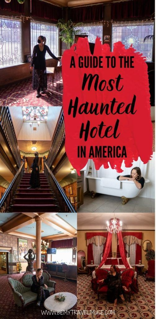A complete guide to the most haunted hotel in America - Mizpah Hotel in Nevada. If you are doing a road trip on the US 95, this is the perfect stop between Reno and Las Vegas. Click for more information about this haunted hotel and book your stay now. #HauntedHotels