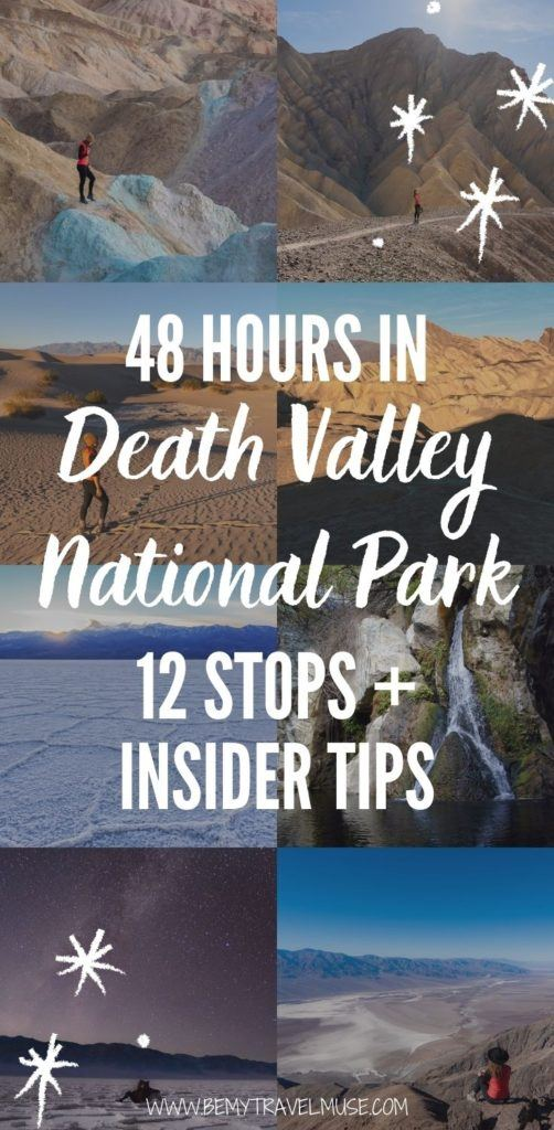 12 awesome stops in Death Valley National Park that you can visit in 48 hours. Get a complete 2-day Death Valley National Park itinerary with all of the best things to do in each stop, accommodation and safety tips, plus find out when is the best time to visit Death Valley National Park! #DeathValley