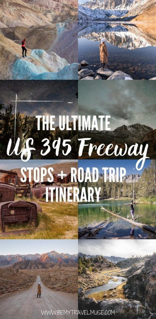 The ultimate Highway 395 Roadtrip: 15 best stops that make a wonderful road trip itinerary! Use this guide to plan an awesome road trip, and find out what makes this one of my favourite road trips in California, USA.