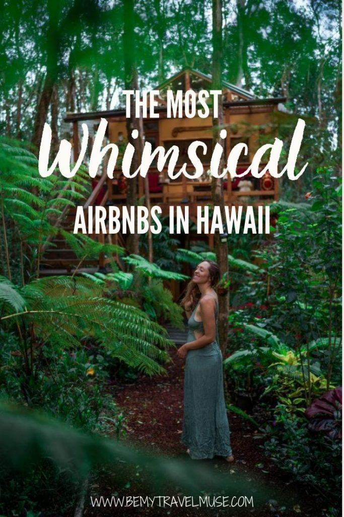 Click to see the best Airbnbs in Hawaii! If you are planning a trip to Hawaii and prefer a unique accommodation experience, here are some of the best places to stay when in Hawaii - most of which are close to nature or the beach, many of them are treehouses and cabins, and all of them are absolutely gorgeous! Click to see the list now. #Hawaii