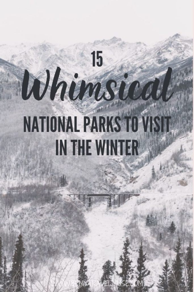 15 of the best national parks to visit in winter: See what makes these national parks so perfect for your winter outdoor adventure. On the list we have Yosemite National Park, Arches National Park, Bryce Canyon National Park, Denali National Park, Yellowstone National Park, Grand Teton National Park, Joshua Tree National Park, Death Valley National Park and more. Click to see the list and plan your next adventure now! #USANationalParks