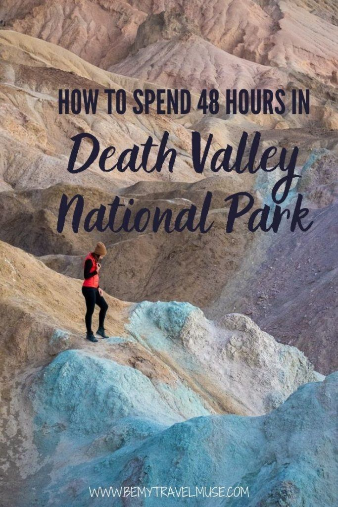 Here's how to spend 2 days in Death Valley National Park, California! Get a complete Death Valley National Park itinerary, and find out when is the best time to visit Death Valley National Park. Accommodation and safety tips included. #DeathValley