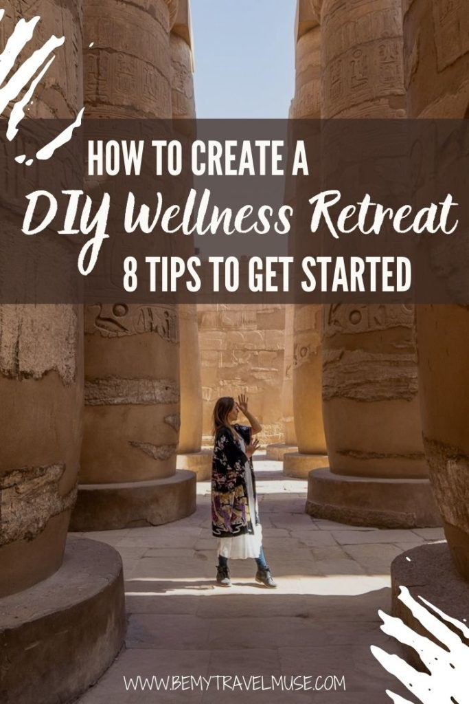 If you can't participate in a wellness retreat in person, here's how you can create a DIY wellness retreat for yourself, that you can 100% personalise and enjoy during your free time at home! Click to get the 8 best tips to get started, and welcome the new year with peace and joy. #Wellness #Retreat