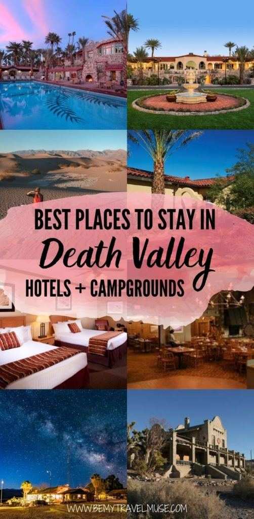 Here are the best places to stay in Death Valley National Park! If you are looking for the best hotels in Death Valley National Park, this list has some good options for you. If you are looking for the best campgrounds in Death Valley National Park, check out the 9 campgrounds listed with insider tips. Finally, if you are planning to do backcountry camping in Death Valley National Park, I have some important tips for you. Click to read them all now!