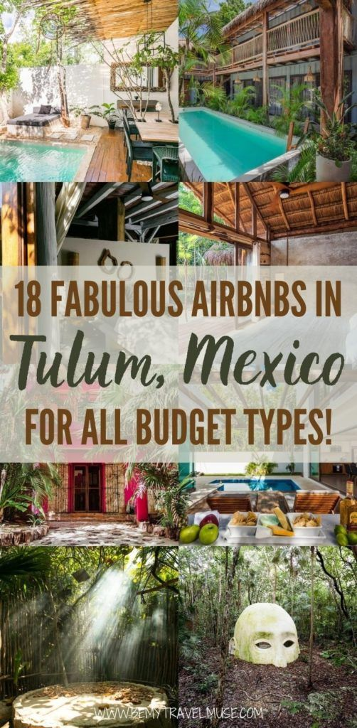 Looking for the best place to stay in Tulum, Mexico? Here are 18 fabulous Airbnbs perfect for all budgets and travel styles! Click to see the hostels, private homes, hotels, villas, and other unique stays available in Tulum now! #Tulum #Mexico