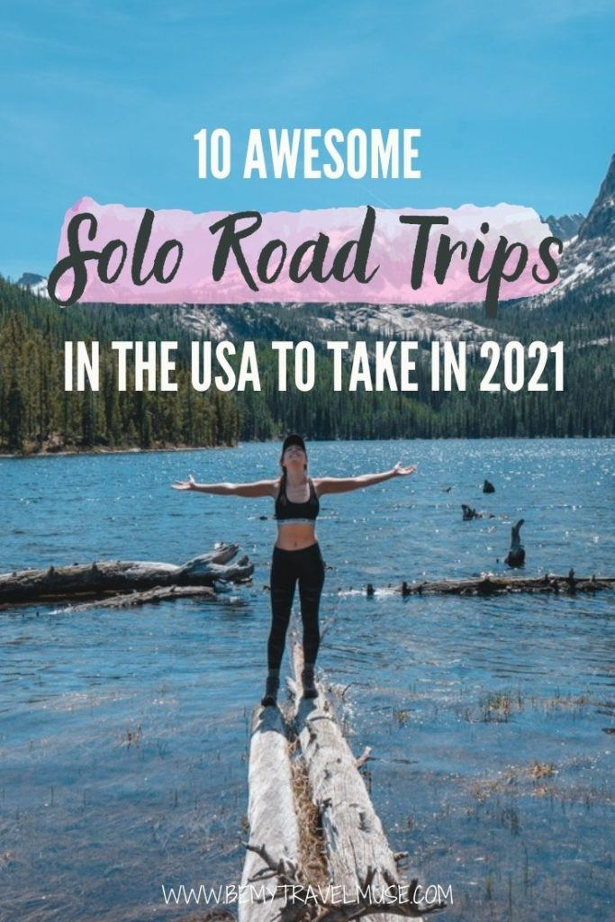 Planning a solo road trip in the USA? Here are 10 gorgeous road trips that are fun, beautiful and safe to take alone (or with friends) in the USA. If you want to travel  safely in isolation, a solo road trip is definitely the way to go. Click to see the list and start planning your trip now. #USA #RoadTrips