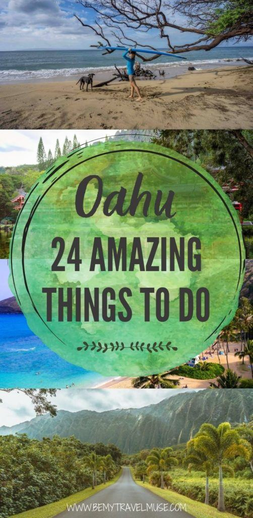 24 amazing things to do in Oahu, Honolulu, Hawaii. Discover the outdoor adventures, explore beautiful beaches and admire the great wildlife and nature in Oahu with this awesome list. #Oahu #Hawaii