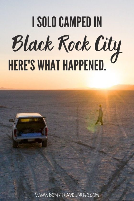 I Solo Camped in Black Rock City