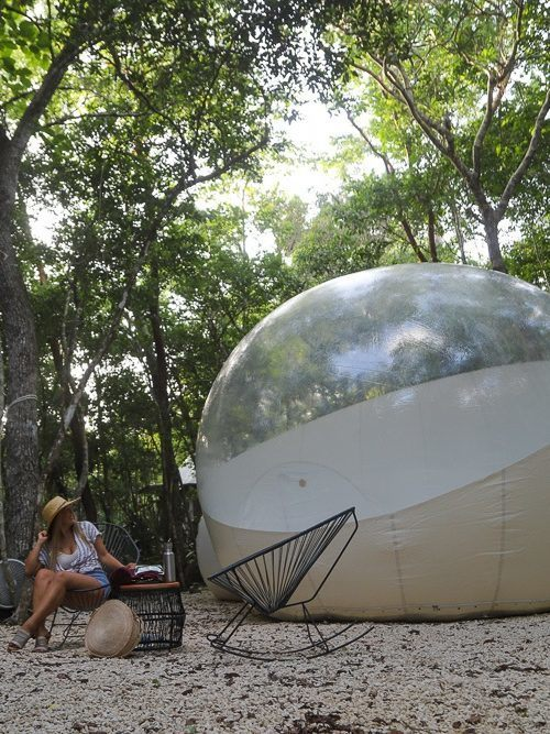 cancun things to do jungle bubble hotel