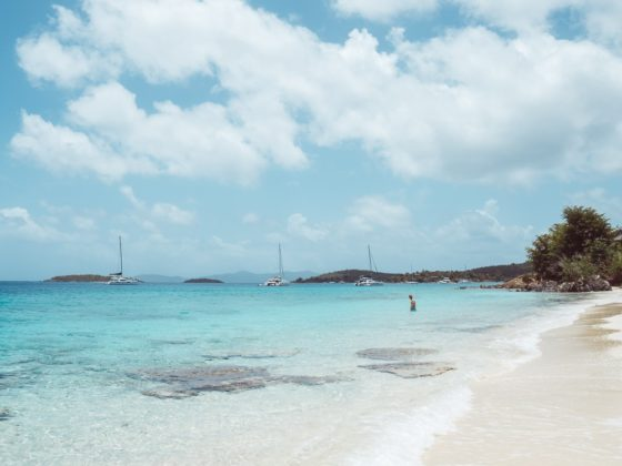 baby blue waters of Salomon Bay - underrated st john beaches
