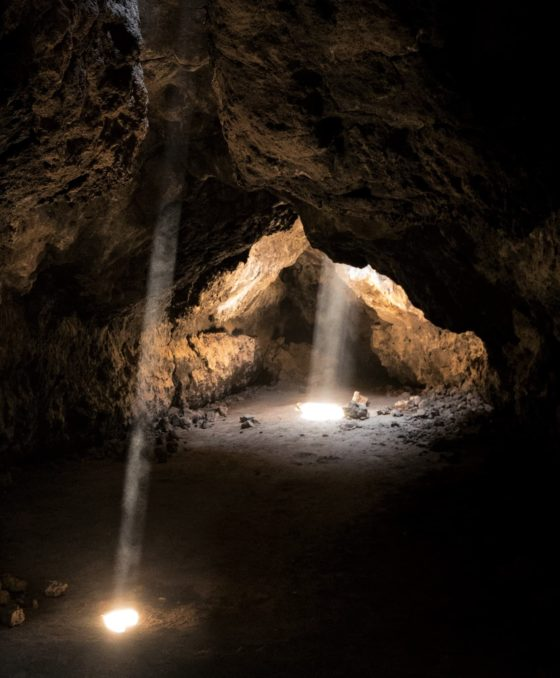 The Lava Tubes at the Mojave National Preserve.