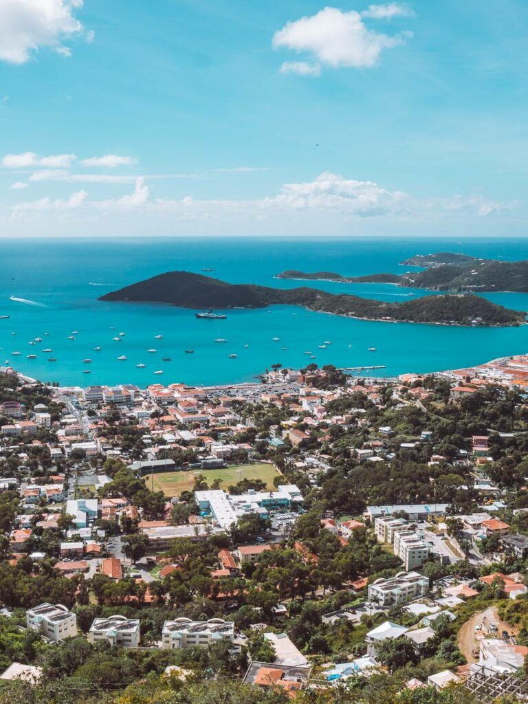 View from Charlotte Amalie overlook in St Thomas USVI
