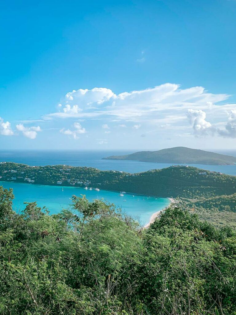 View of Magens Bay from Drake's Seat lookout point