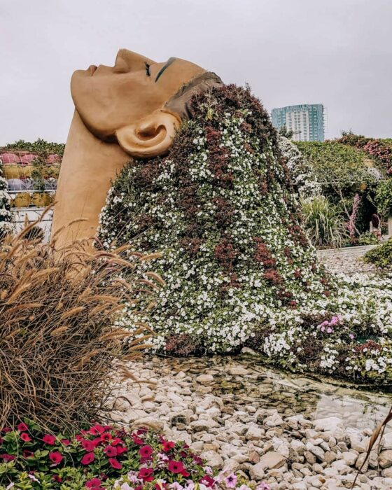 Things to do in Dubai: explore the Miracle Garden.