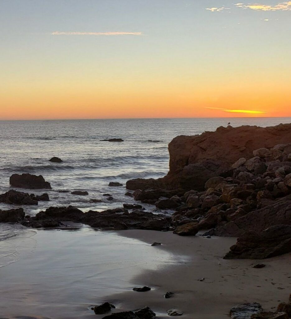 Leo Carrillo State Park, one of the best places to camp in Southern California, offers ocean views like this.