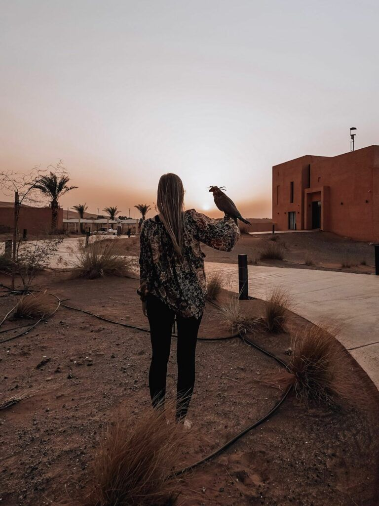 Be mindful of how you dress during solo female travel in Dubai. Long pants, loose shirt.
